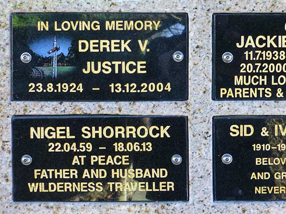 Memorial Wall Tablet in black granite with gold lettering